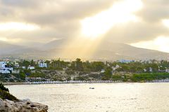 View of embankment at Paphos Harbour, Cyprus Royalty Free Stock Photo
