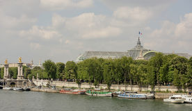View of the embankment of Por de Sham Elise and the Grand Palace Royalty Free Stock Image