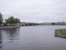 View of the embankment of the river Neva Stock Photo