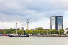 View of the embankment in Rotterdam Stock Images