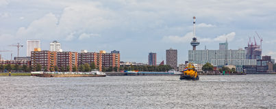 View of the embankment in Rotterdam Stock Image