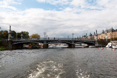 View of the embankment of Stockholm, Sweden Stock Photo