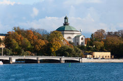 View of the embankment of Stockholm, Sweden Royalty Free Stock Images