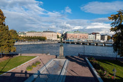 View of the embankment of Stockholm, Sweden Royalty Free Stock Image