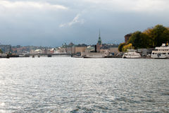 View of the embankment of Stockholm, Sweden Stock Photography