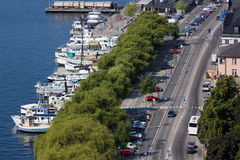 View of the embankment of Stockholm, Sweden Royalty Free Stock Photos