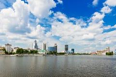 View of embankment Yekaterinburg Stock Photography