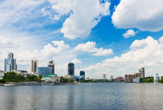 View of embankment Yekaterinburg. City Stock Images