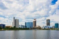 View of embankment Yekaterinburg City. Stock Image