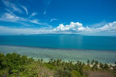 View of the emerald green sea at Koh Phangan island Stock Images