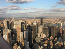 View from Empire State buildin. View from highest point of Empire State building on Manhattan Stock Photography
