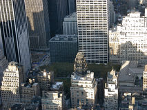 View from Empire State buildin. View from highest point of Empire State building on Manhattan Stock Images
