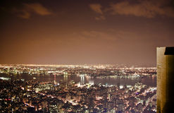 View from Empire State Building at night Royalty Free Stock Photo