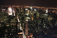 View from Empire State Building at night 4 Stock Photography