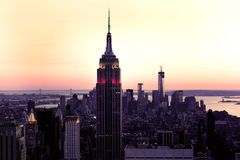 Manhattan Sunset Stock Photography