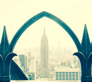 View of Empire State Building Stock Photo