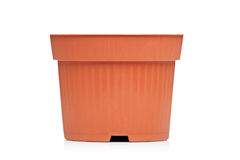 View of an empty brown flowerpot Royalty Free Stock Images