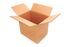 A view of an empty paper box Stock Photos