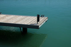 View of empty pier and lake Stock Image