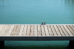 View of empty pier and lake Royalty Free Stock Photography