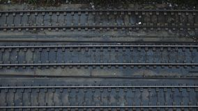 Top view on railroad stock video footage