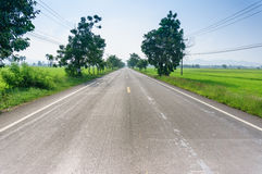 View of empty Road Royalty Free Stock Images