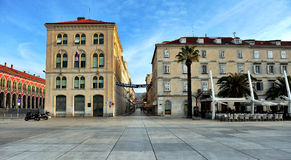 View of the empty sqaure in Split town Stock Photography
