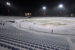 View on empty stadium at night Royalty Free Stock Photography