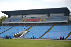 View on the empty stands Stock Images