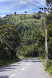 Road , Lush Ponmudi Hill And Sky Stock Photography