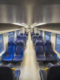 View of empty train wagon Royalty Free Stock Photos