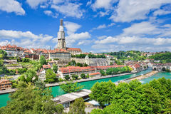 View on the enchanting old town of Bern, Switzerland Royalty Free Stock Photos
