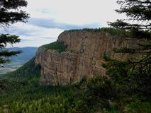 View of the Enderby Cliffs, a provincial park in British Columbia, Canada Stock Images
