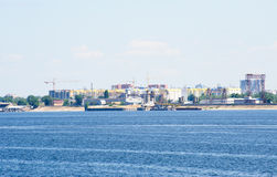 View on Engels city from Volga river Russia Stock Images