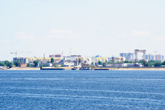 View on Engels city from Volga river Russia Royalty Free Stock Photo