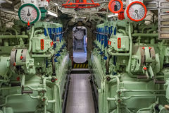 View of the engine room of the ship Royalty Free Stock Photos