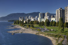 View of English Bay Beach, Vancouver BC Royalty Free Stock Image