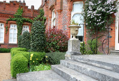 View of an English Manor and Garden Royalty Free Stock Photos