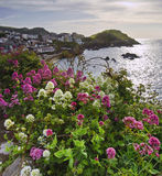 View of English seaside town Stock Image