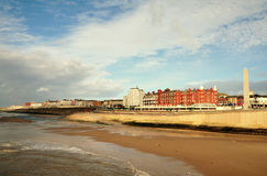 View of the English seaside town, Blackpool. Stock Photos