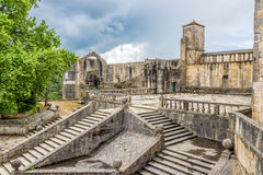 View at the entering courtyard of Castle Convent of Christ in Tomar ,Portugal Stock Images