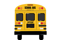 View of the entire rear of the school bus Stock Photos