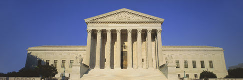 View of entire US Supreme Court Building, Royalty Free Stock Photos