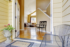 View of entrance hall through open doors Stock Photography