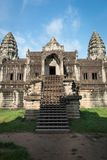 View of the entrance inside an Angkor Wat, Cambodia. View of the entrance inside an Angkor Wat in a clear day in Siem Reap, Cambodia Royalty Free Stock Images