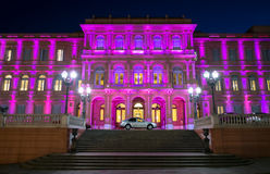 Argentina Pink House. View of the entrance the Pink House, Casa Rosada, in Buenos Aires Argentina. this is the Goverment House of Argentina Stock Photo