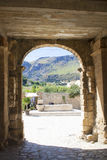 View of the entrance of Scopello Village entrance, Sicily, Italy Stock Photos