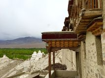 View from entrance of Shey Palace  Monastery Royalty Free Stock Photo
