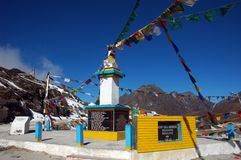 View of entrance to Tawang-Arunachal Pradesh. Buddhist point(temple) of Tawang locality in Arunachalpradesh Royalty Free Stock Photography