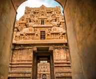 View of the entrance to the Temple Brihadishwara Royalty Free Stock Photography